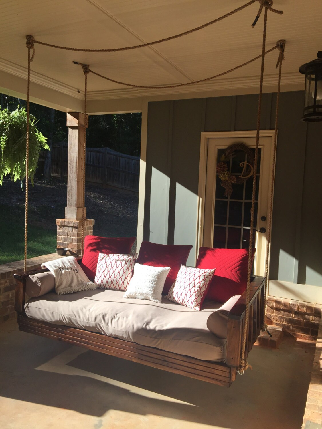day bed swing porch swing by deuleydesigns on etsy. Black Bedroom Furniture Sets. Home Design Ideas