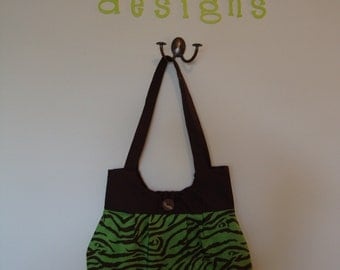 Animal print purse - green