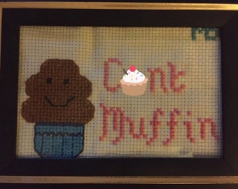 C*nt Muffin Cross Stitch