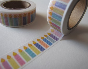 Birthday Candle Washi Tape