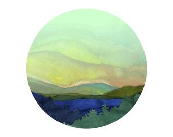 "Watercolor Art Print - 8x10 - ""Scenic Circle"""