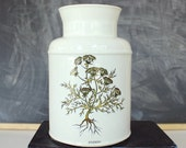 vintage McCoy crock . Aniseed crock . large ceramic crock container . kitchen decor