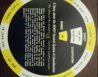 Vintage Dewey Decimal Classification wheel
