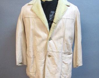 "Vintage 1950's Men's DEERSKIN Leather, ""Mid-WESTERN Sport Togs"" Jacket, size 42"