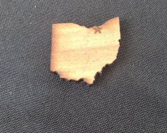 Magnet in the shape of ohio