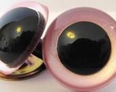 1 Pair of 40mm Premium Craft Eyes in Shimmer Pink