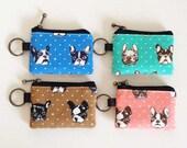 Key/coin purse - French bulldog