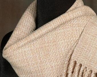Handwoven scarf / merino wool scarf / winter scarf