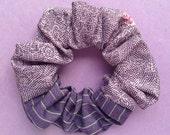Japanese Kimono fabric scrunchie Purple