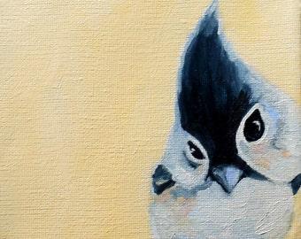Titmouse bird / art print of oil painting / archival art print