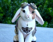 Lop-eared Bunny Steampunk Myxie Pal Sculpture