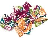 Headwrap, Girls Headwrap, Baby Headwrap, HeadWrap, Girls Headband, Big Bow Headwrap, Photo Prop, Mod Floral - JEWEL TONE FLORAL
