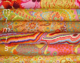 6 half yd bundle,YELLOWS,Orange, FISH Phillip Jacobs fabric/Kaffe Fassett fabric Westminster Fabric Cotton, Quilt Craft and Apparrell fabric