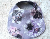 Disney Villains Infant Girl Baby Bib Purple