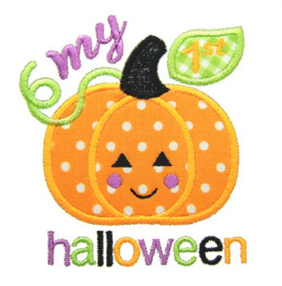 my first halloween applique my 1st halloween applique halloween embroidery pumpkin applique machine embroidery design instant download