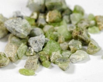 """Small to Medium Raw Peridot Nuggets (1/4"""" to 1"""") - Approx 230g Rough Peridot, Peridot Nuggets, Healing Stone, Loose Stones"""
