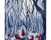 Fox Forest - Mini Art Print