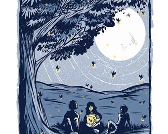Summer Nights - Mini Art Print