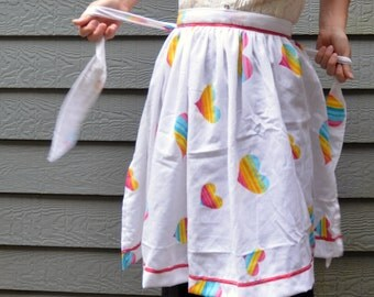 DISCOUNTED Vintage Care Bears Half Apron