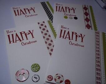 Christmas Card Set, Christmas Greeting Card, Handmade Christmas Card, Greeting Cards, Christmas Greeting Set