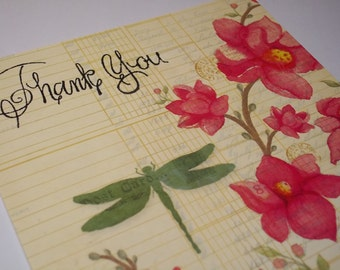 Thank You Card, Thank You Note, Handmade Thank You Card, Thank You Greeting, Blank Thank You Card