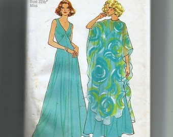 Simplicity  Misses' Dress and Poncho Pattern 7183