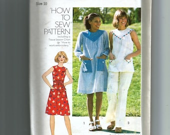 Simplicity  Misses' Dress or Top and Pants Pattern 7330