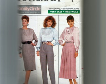 Butterick Misses' Skirt and Pants Pattern 5758