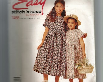 McCall's Girls' Dress Pattern 7466