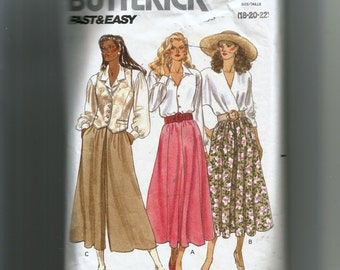 Butterick Misses' Skirt and Culottes Pattern 4478