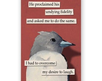 Fidelity Magnet - Bird - Humor - Gift - Stocking Stuffer - Mincing Mockingbird