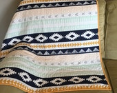 Arizona Arid Horizon quilted minky baby blanket