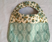 baby bib for the modern funky baby in aztec floral