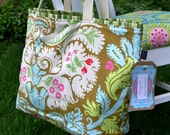 Farmer's Market Tote Bag Amy Butler Belle Fabric Patchwork
