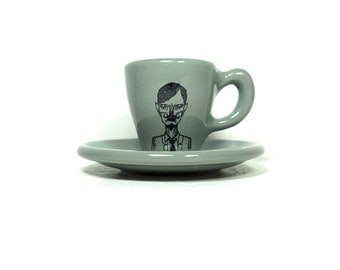 zombie number e. espresso cup w/saucer - Made to Order / Pick Your Colour