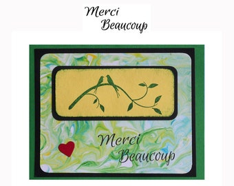 Merci Beaucoup - French Thank you - UNMOUNTED rubber stamp #23