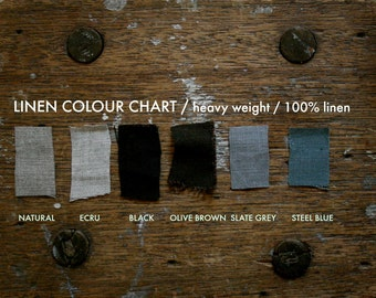LINEN COLOUR CHART A - heavy weight