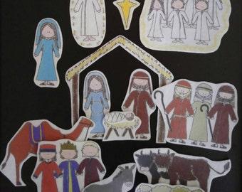 Christmas Nativity Flannel Board Story Felt Set