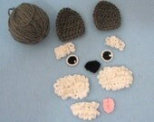 Crochet Kit to Make A Schnauzer Dog Hat