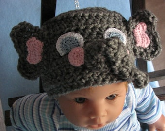 Infant Elephant Hat Crochet Pattern