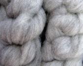 Light Gray Shetland Roving, Spinning Fiber, 4 ounces