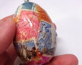 SALE Egg Postage International Stamps Collage Ornament (e5)