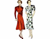 1930s Princess Frock Dress Simplicity 2276 Vintage Sewing Pattern Bust 32
