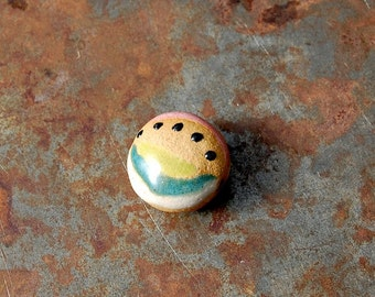 Mid Century Tribal / Ceramic Bead