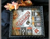 Game Board Clock, Board Game Clock, Man Cave Decor, Office Decor, Fathers Day Gift, Graduation Gift