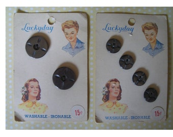 Vintage Luckyday Button Cards