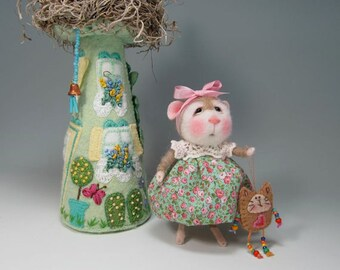 Needle Felted Animal Tutorial / Needle Felted Pattern / Needle Felted Mouse & Bunny / Needle Felting / Wool Roving
