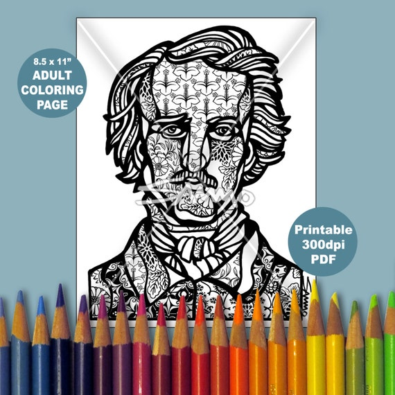 edgar allan poe coloring pages - photo#32