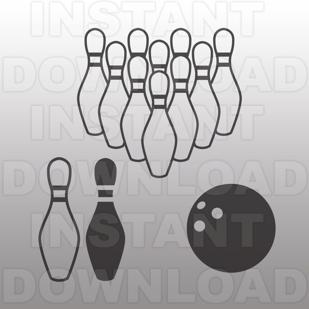 Bowling Svg File Bowling Ball Svg Cutting Template Clip Art