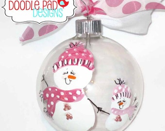 Mommy and Me Ornament, Grandma Ornament, Personalized Big Sister ornament
